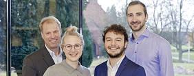 Das Team der Jacobs University (v.l.n.r.): Prof. Dr. Christoph Lattemann, Beke Redlich, Simon Fischer, Ricardo Guerrero. Quelle: Jacobs University