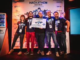 """Das """"Bar Gate""""-Team wurde beim Bremen Hackathon für die beste Idee und raffinierteste Umsetzung ausgezeichnet. Quelle: BLG Logistics"""