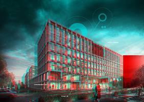 Im Technologiepark Bremen entsteht der neue Digital Hub Industry. Quelle: encoway GmbH