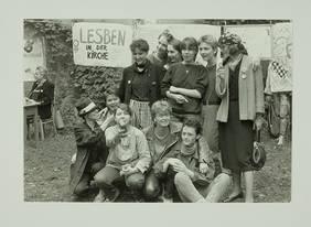 """Ostberliner Frauengruppe """"Lesben in der Kirche"""" (1985): Das DDF ermöglicht feministische Perspektiven auf Bewegungsgeschichte. Quelle: DDF/ Robert-Havemann-Gesellschaft"""