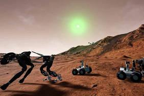 TZI-Wissenschaftler haben eine Marslandschaft in der virtuellen Realität rekonstruiert. Quelle: Universität Bremen