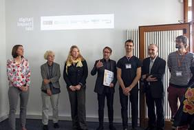 Viel Vorfreude auf die innovativen, partizipativen digitalen Methoden zeigten die Akteure bei der Eröffnung des Digital Impact Lab. Quelle: Digital Impact Lab