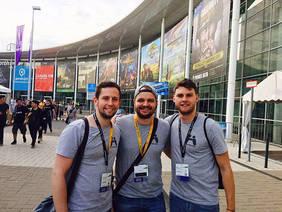 GameBuddy-Gründer (von links nach rechts) Julian Suttner, Niklas Hatje und Cedric Deege