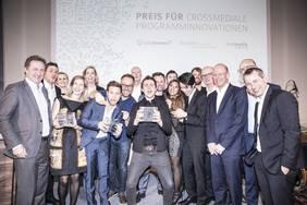 Verleihung des Preises für crossmediale Programminnovationen im vergangenen Jahr. Foto: Nordmedia/Marlena Waldthausen