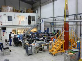 Vorbereitungen zum Start der MAIUS-1 Höhenforschungsrakete am Esrange Space Center im nordschwedischen Kiruna. Der erfolgreiche Flug erfolgte am 23. Januar 2017.