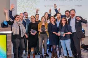 Die Preisträger des Preises für crossmediale Programminnovationen 2018. Foto: Nordmedia/Christian-Arne de Groot