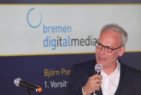 Björn Portillo, 1. Vorsitzender bei bremen digialmedia und Managing Partner der hmmh multimediahaus AG