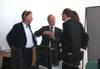 v.l. Christoph Ranze (Geschäftsführer encoway GmbH) und Frank Maier (Vorstand Lenze SE) im Gespräch mit Wirtschaftssenator Martin Günthner
