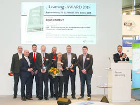 Preisverleihung didacta 2018 view Kategorie Edutainment © 2018 engram GmbH