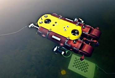 Robuste, zuverlässige und autonome Unterwassersysteme wie das DFKI-Unterwasserfahrzeug Dagon sollen die Nachwuchswissenschaftler im Rahmen der Robocademy entwickeln. (Quelle: DFKI GmbH)