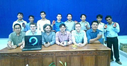 Die Bremer Studenten installierten das System in Kooperation mit Vertretern des Landwirtschaftsministeriums von Laos. Foto: mobile4d