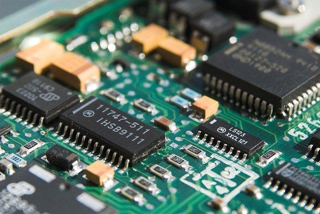 Das Bild zeigt das Innere eines Computers
