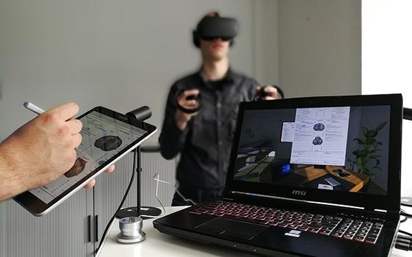 In einem Projekt des Forschungsbereichs Interaktives Maschinelles Lernen werden Bilddaten der Radiologie mittels VR visualisiert