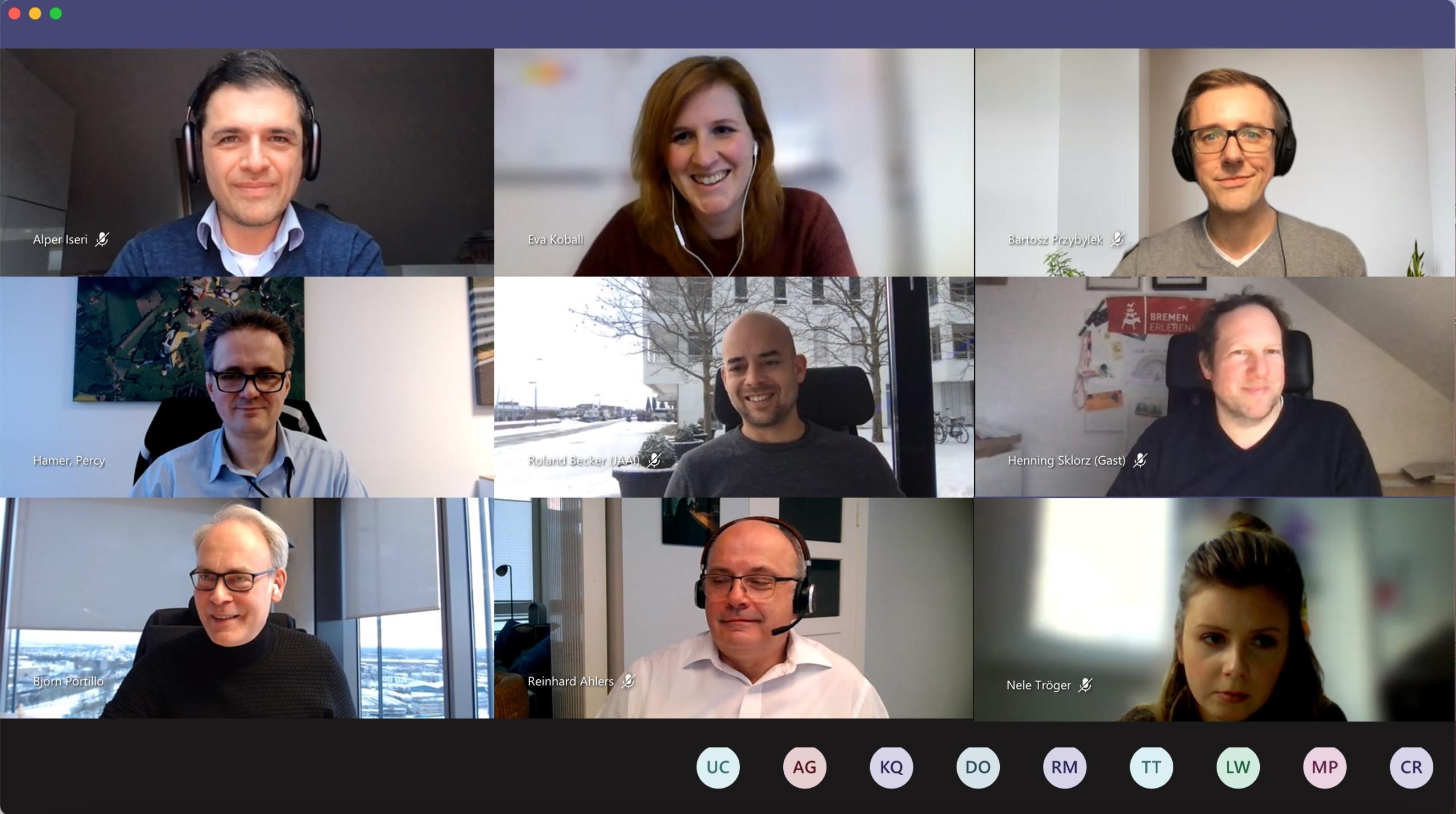 Screenshot der Online Videokonferenz