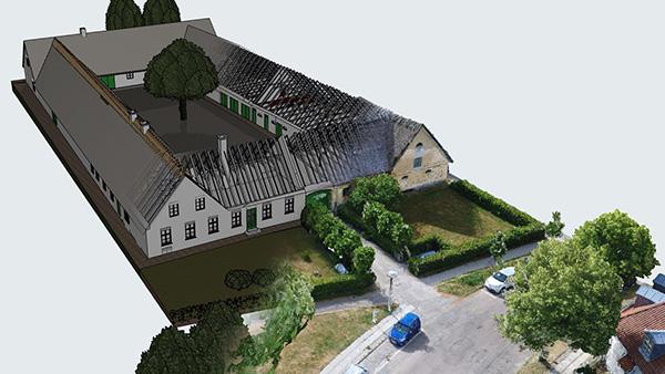 Bild eines 3D-Gebäude Modells