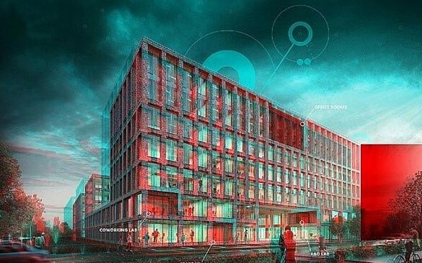 3D Modell des Digital Hub Industry