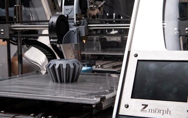 Ausschnitt eines 3D-Druckers